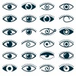 Collection of eyes icons and symbols - logo design...