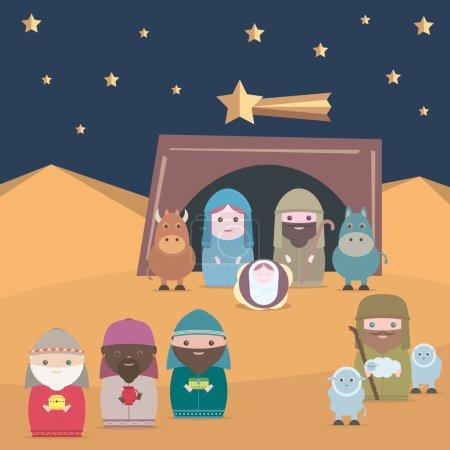 Vector Nativity christian jesus