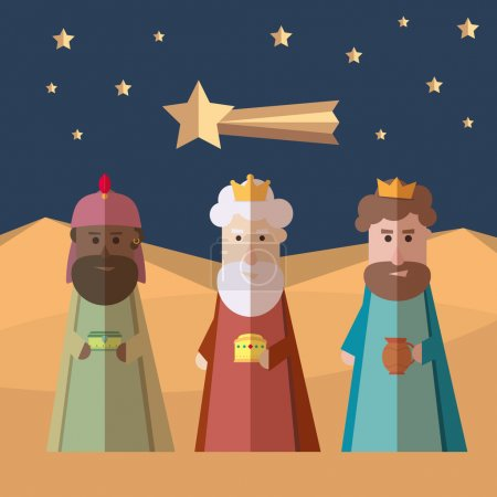 The three Kings of Orient, wise men, 3 magi...