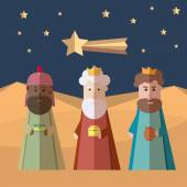The three Kings of Orient wise men 3 magi