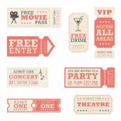 A set of tickets for entertainment events