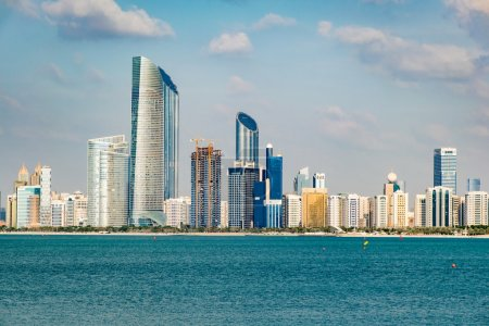 View of Abu Dhabi in the United Arab Emirates