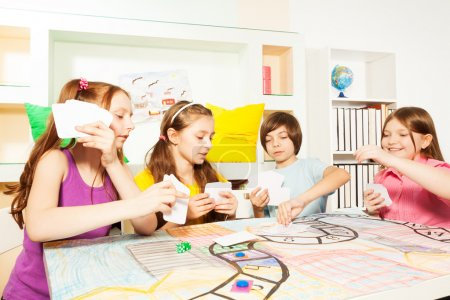 kids playing the tabletop game