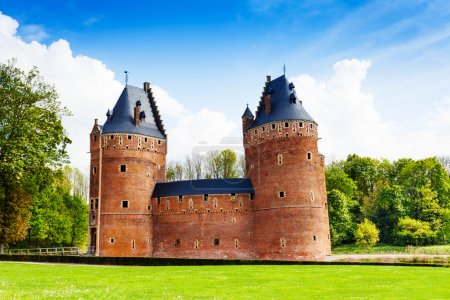 Photo for Beautiful Beersel Castle in Brussels in Belgium during sunny day in summer - Royalty Free Image