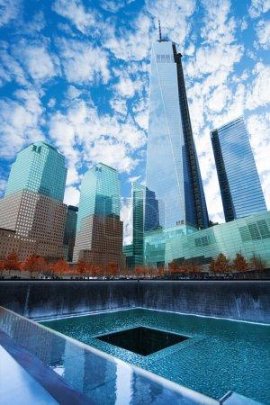 Memorial 911 with beautiful buildings