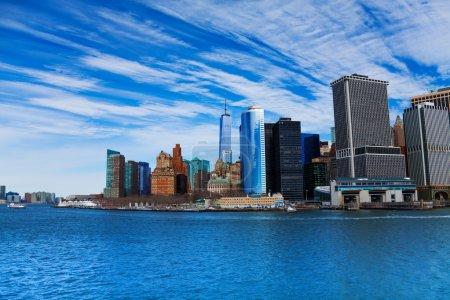 New York skyline from Gudson harbor