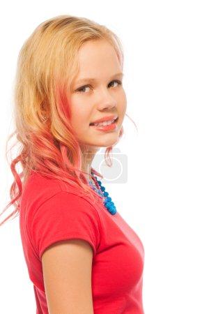 blond smiling girl