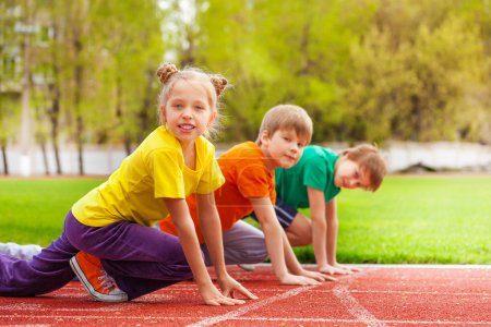 Children ready to run