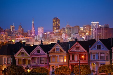 Painted ladies and illuminated San Francisco