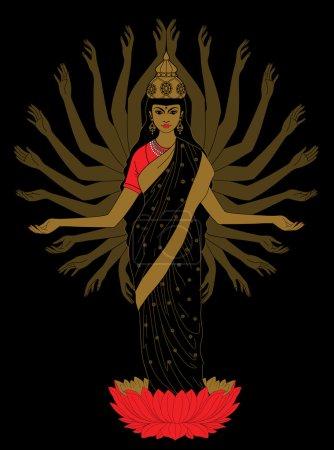 east many-armed goddess