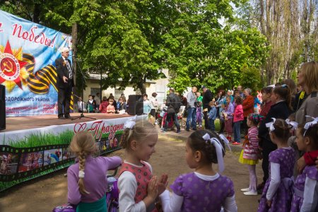 Victory Day celebrating in park of Railway disctrict of the city