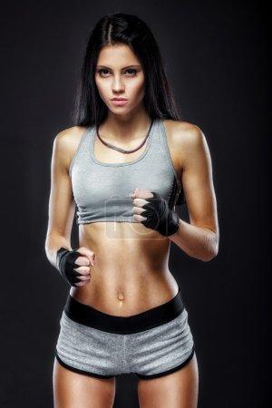 woman boxer portrait