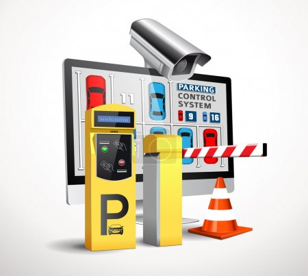 Parking payment station - access control concept