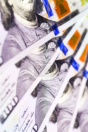 American dollars, close-up