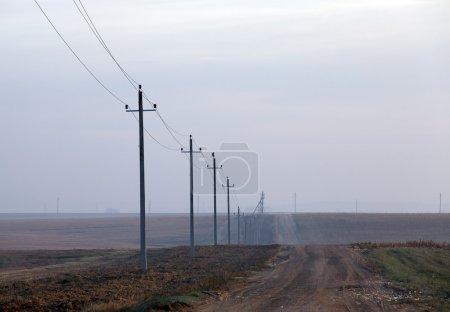 High-voltage power poles