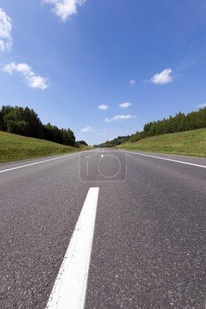 asphalt road . spring