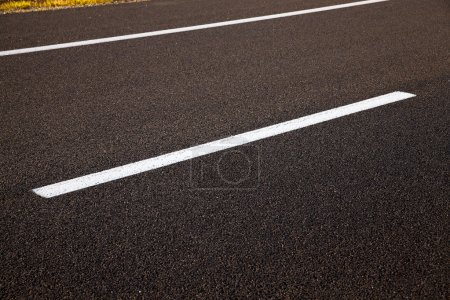 road markings   on  asphalt