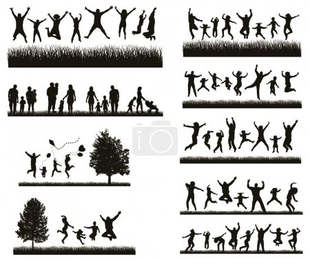 Illustration for Active People on the Party and Nature. - Royalty Free Image