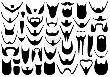 Set of different beards