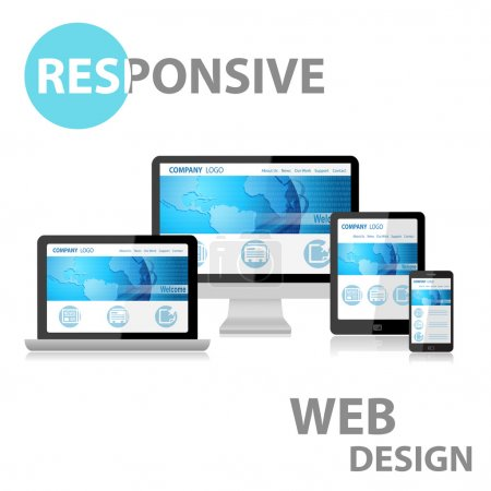 Photo for Responsive Web Design on Various Device - Royalty Free Image