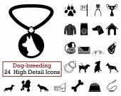 Set of 24 Dog-breeding