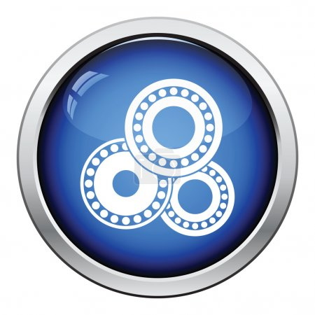 Bearing icon. Glossy button design.