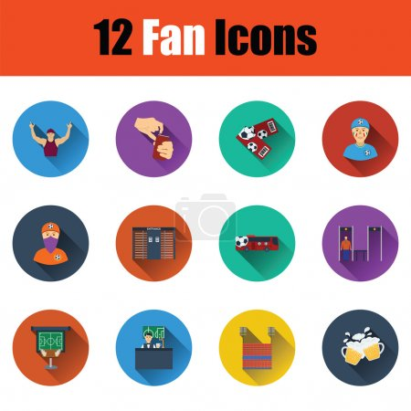 Set of twelve soccer icons