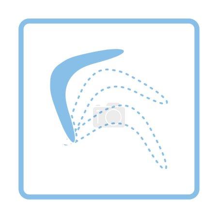 Blue boomerang  icon