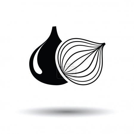 Onion icon with shadow design.