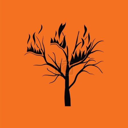 Wildfire icon illustration.
