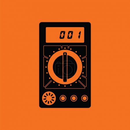 Multimeter icon illustration.