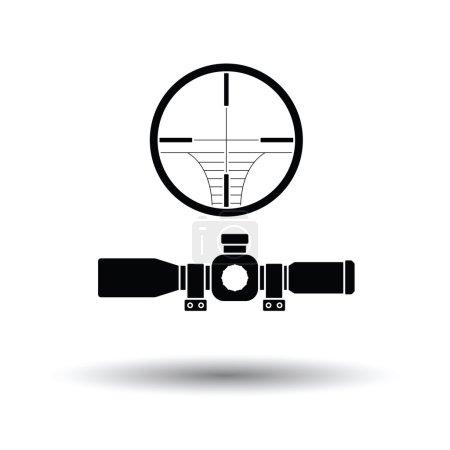 Illustration pour Icône Portée. Fond blanc avec design d'ombre. Illustration vectorielle. - image libre de droit