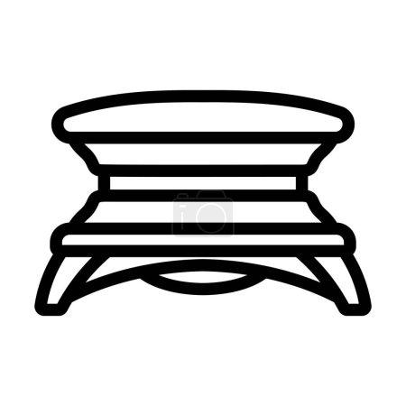 Illustration pour Icône de Solarium. Conception de contour audacieux avec largeur de course modifiable. Illustration vectorielle. - image libre de droit