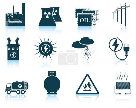 Set of energy icons.
