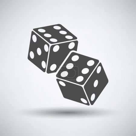 Illustration for Craps cubes icon over grey background. Vector illustration. - Royalty Free Image
