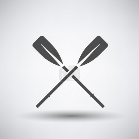 Fishing icon with boat oars