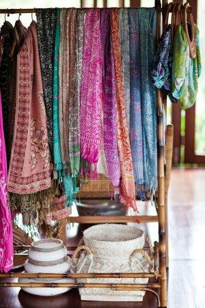 bazaar with silky stoles