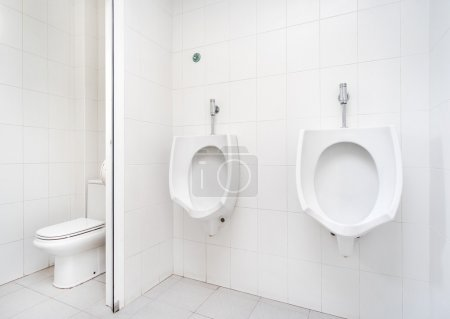Urinals in the public toilet