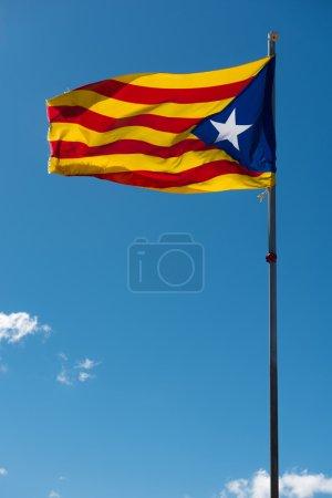Waving flag of Catalonia