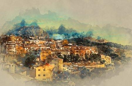 Sella village, old village in Spain. Alicante province