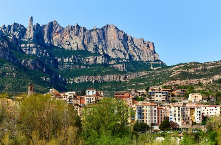 Spectacular view of Montserrat mountains