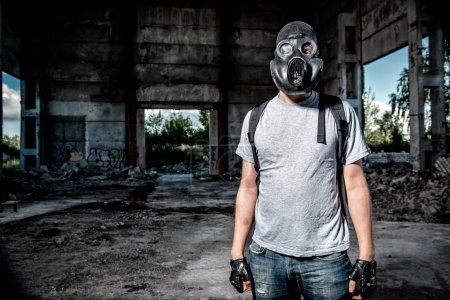 Man in a gas mask