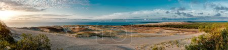 Panoramic view over dunes and Baltic Sea