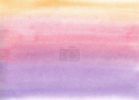 Foto de Gradiente de acuarela. Colores naranja, rosa y violeta - Imagen libre de derechos