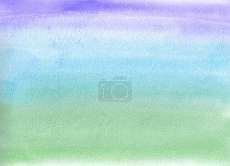 Foto de Pintura de la acuarela. Gradiente de azul y verde - Imagen libre de derechos