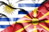 Integetett a Macedónia és uruguay zászlaja