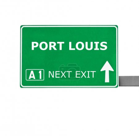 PORT LOUIS road sign isolated