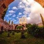 Bellapais Abbey, front view. Kyrenia, Cyprus....
