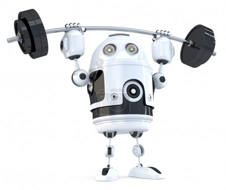Powerfull Robot. Technology concept. Isolated. Contains clipping path.