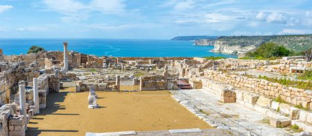 Panoramic view of Kourion archaeological site. Limassol District